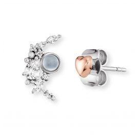 Engelsrufer ERE-HEARTMOON-ZI-BIR Ladies' Stud Earrings Moonlight and Heart