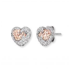 Engelsrufer ERE-DARLING-BIR-ST Silber Damen-Ohrringe Herz mit Zirkonias