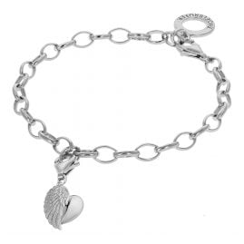 Engelsrufer 78155 Silver Bracelet With Wing Heart