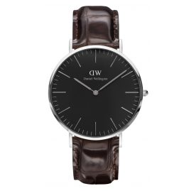 Daniel Wellington DW00100134 Herrenarmbanduhr York Silber 40 mm