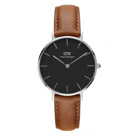 Daniel Wellington DW00100178 Ladies Watch Classic Petite Durham Black/Silver 32 mm