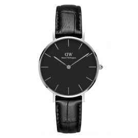 Daniel Wellington DW00100179 Damenuhr Classic Petite Reading Schwarz/Silber 32 mm