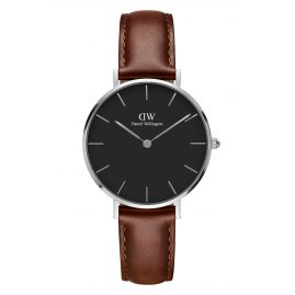 Daniel Wellington DW00100181 Ladies Watch Classic Petite St Mawes Black/Silver 32 mm