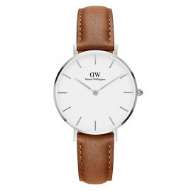 Daniel Wellington DW00100184 Damenuhr Classic Petite Durham Weiß/Silber 32 mm