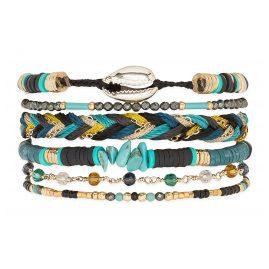 Hipanema E20MCUBAB Damen-Armband Cubanita Schwarz M