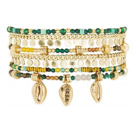 Hipanema E20MAPPOG Damen-Armband Appollon Grün