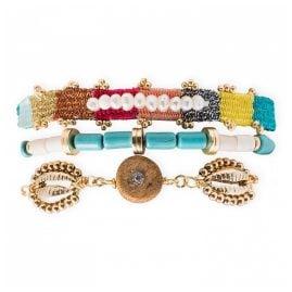 Hipanema E21MROBIM Damen-Armband Robinson Multicolore M