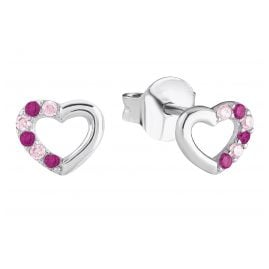 Prinzessin Lillifee 2024375 Silver Girls' Heart Earrings