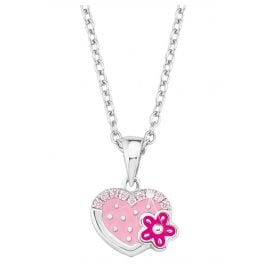 Prinzessin Lillifee 2021045 Silver Children's Necklace Heart with Flower