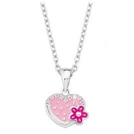 Prinzessin Lillifee 2021045 Silber Kinder-Halskette Herz mit Blume