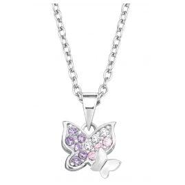 Prinzessin Lillifee 2021103 Silber-Halskette für Kinder Schmetterlinge