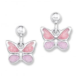 Prinzessin Lillifee 9082568 Silver Children's Earrings Butterflies