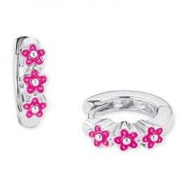 Prinzessin Lillifee 2021026 Silver Children's Hoop Earrings Flowers