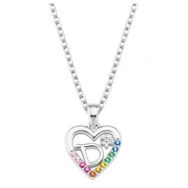 Prinzessin Lillifee 2027879 Silver Necklace for Girls Heart D