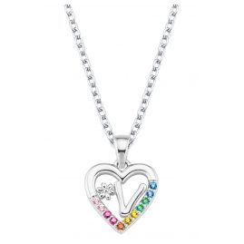Prinzessin Lillifee 2027895 Silver Kids Necklace Heart V