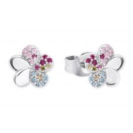 Prinzessin Lillifee 2027898 Silber Ohrringe für Mädchen Blume