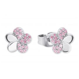 Prinzessin Lillifee 2027899 Silver Girls' Earrings Flower Pink