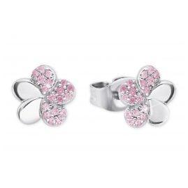 Prinzessin Lillifee 2027899 Silber Ohrringe für Mädchen Blume Rosa