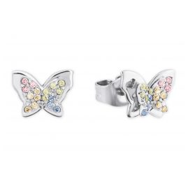 Prinzessin Lillifee 2027901 Silver Girls' Earrings Colourful Butterfly