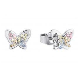 Prinzessin Lillifee 2027901 Silber Ohrringe für Mädchen Schmetterling bunt