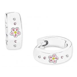 Prinzessin Lillifee 2027909 Silver Hoop Earrings for Children Flower Girls
