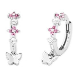 Prinzessin Lillifee 2027893 Silver Children's Hoop Earrings Flowers