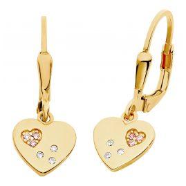Prinzessin Lillifee 2029679 Kinder-Ohrringe Herz Ohrhänger Silber vergoldet