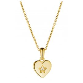 Prinzessin Lillifee 2029680 Girls' Heart Pendant Necklace Gold Plated Silver