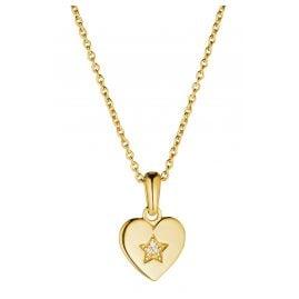 Prinzessin Lillifee 2029680 Mädchen-Halskette mit Herz-Anhänger Silber vergoldet