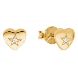 Prinzessin Lillifee 2029682 Mädchen-Ohrringe Herz Ohrstecker Silber vergoldet
