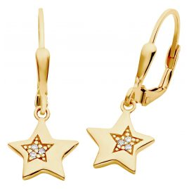 Prinzessin Lillifee 2029707 Children's Drop Earrings Star Gold Plated Silver