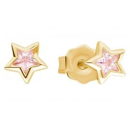 Prinzessin Lillifee 2029715 Mädchen-Ohrringe Stern Ohrstecker Silber vergoldet