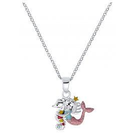 Prinzessin Lillifee 2031159 Kinder-Halskette Seepferdchen mit Meerjungfrau Silber