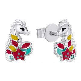 Prinzessin Lillifee 2031160 Kinder-Ohrringe Ohrstecker für Mädchen Seepferdchen Silber