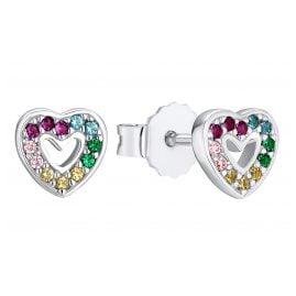 Prinzessin Lillifee 2031166 Silber Herz-Ohrringe für Mädchen Multicolor