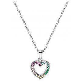 Prinzessin Lillifee 2031167 Silber Kinder-Halskette Herz Multicolor