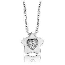 Herzengel HEN-HEARTSTAR-ZI Children´s Necklace Star with Heart