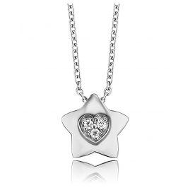 Herzengel HEN-HEARTSTAR-ZI Kinder-Halskette Stern mit Herz