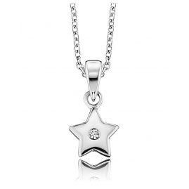 Herzengel HEN-STAR-ZI Silber Kinder-Halskette Stern