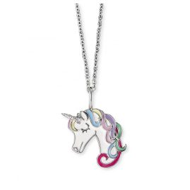 Herzengel HEN-UNICORN01 Children´s Necklace Silver Unicorn