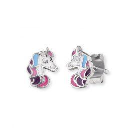 Herzengel HEE-UNICORN01-ST Ohrringe für Kinder Einhorn