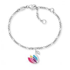 Herzengel HEB-SWAN Silber-Armband für Kinder Schwan