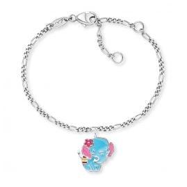 Herzengel HEB-ELEPHANT Kinder-Armband Elefant Silber