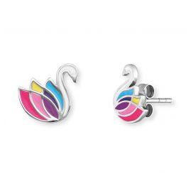 Herzengel HEE-SWAN Children's Earrings Swan Silver
