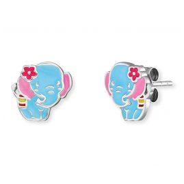 Herzengel HEE-ELEPHANT Kinder-Ohrstecker Elefant Ohrringe Silber