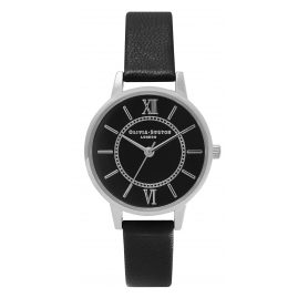 Olivia Burton OB15WD49 Wonderland Black & Silver Ladies Watch
