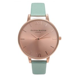 Olivia Burton OB15BD75 Mint & Rose Gold Ladies Watch