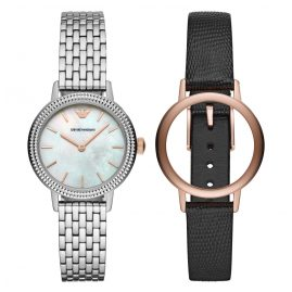 Emporio Armani AR80020 Watch Set for Ladies