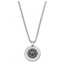 Emporio Armani EGS2725040 Herren-Halskette mit Logo-Anhänger