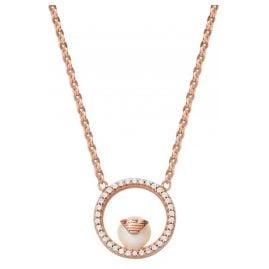 Emporio Armani EG3520221 Damen-Halskette Silber Roségoldfarben